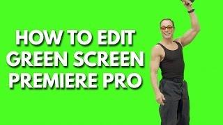 How to chroma key in adobe premiere pro chroma key remove background tutorial