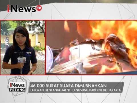 Live Report : Reni Anggraeni : 46.000 surat suara dimusnahkan - iNews Petang 14/02