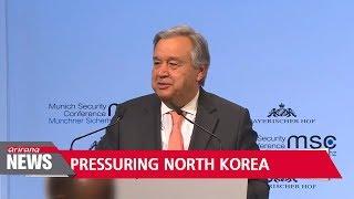 UN chief Antonio Guterres calls for continued pressure on North Korea