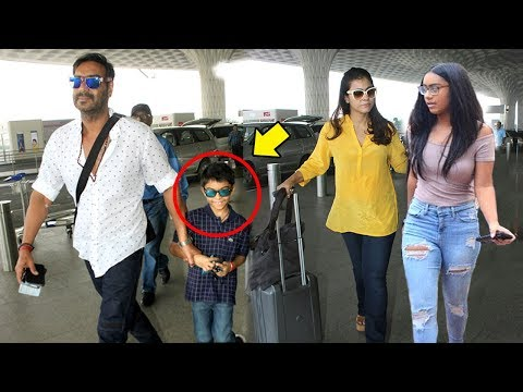 Xxx Mp4 Ajay Devgn With Kajol Amp Children Son Yug Amp Daughter Nysa Spotted At Mumbai Airport 3gp Sex