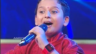 Super Star Junior- 5 | Surya Kiran Singing ... poovil vandu koodum kandu..