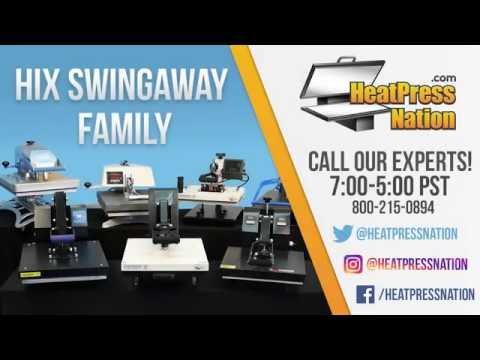 HIX Swing-Away Family of Heat Presses - HeatPressNation