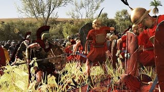 300 SPARTA VS 3000 ROMAN HASATTI - MASSIVE BATTLE TOTAL WAR ROME 2 (CINEMATIC)