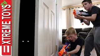 Mystery Creature Attack! Ethan Vs. Cole Animal Nerf Battle.