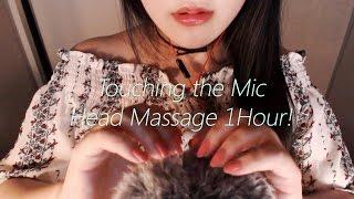 No Talking ASMR Do you wanna feel like a cat? :3 Touching the Mic & Head Massage 1 Hour!