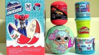 BRINQUEDOS SURPRESA OVOS Kinder Transformers Play-Doh Bonecas LOL Surpresa CARROS3