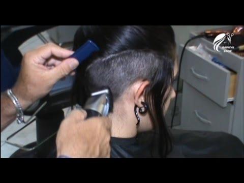 Beautiful model shaving head undercut Full Version