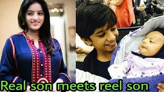 Deepika Singh aka Sandhya's real son Soham meets Her Reel son Ved Rathi |Baby's proper pic