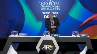 AFC U-20 Futsal Championship Qualifiers 2019 - Official Draw