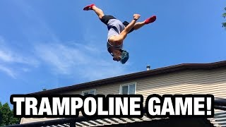 Trampoline Game Challenge (Insane Tricks & Double flips!)