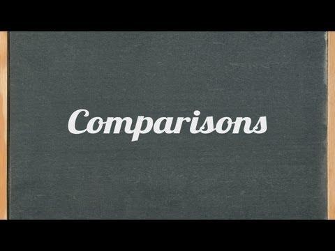 watch Comparisons (comparative and superlative) - English grammar tutorial video lesson
