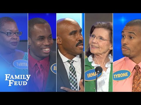 ALL TIME GREATEST MOMENTS in Family Feud history Part 6 The CRAZIEST folks Steve met