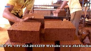 Semi automatic clay brick making machines, Micro Engineering works, India.call us +91-9894748600