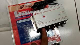 Penguat Signal TV Booster CATV Amplifier NewSat Output 4 TV