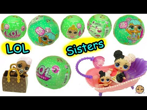 LOL Surprise  Lil Sisters Series 2 !! Baby Dolls Blind Bag Ball Pee, Cry, Spit or Color Change