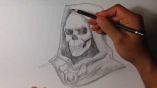 How to Draw Skeletor from He-Man - Skull Drawings