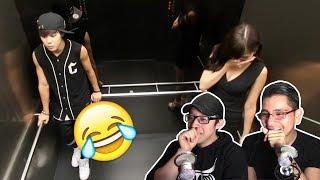 GUYS REACT TO BTS ELEVATOR PRANK