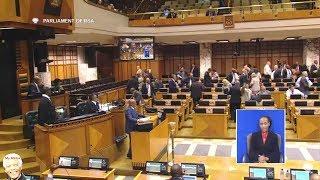 Drama In Parliament | DA vs Jacob Zuma -   DA Walks Out