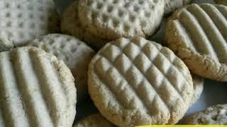 حلويات رمضان الدايت لاصحاب الرجيم بسكويت اللوز والشوفان في اقل من 30 دقيقه