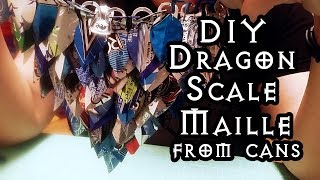 DIY Dragon Scale Maille from Soda Cans