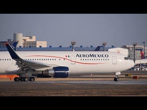 Aeromexico Boeing 767 300ER Takeoff from Narita International Airport