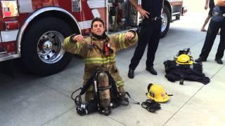 Fireman dressing up