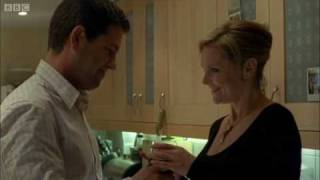 Alex and Jessica kiss - Mistresses - BBC