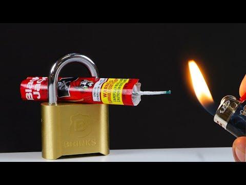 SUPER POWERFUL FIREWORK VS LOCK