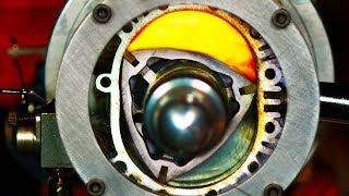 See through Rotary Engine in Slow Motion - (Wankel Engine) 4K