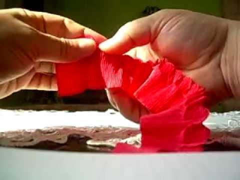 Różyczki z krepiny metodą cukierkową