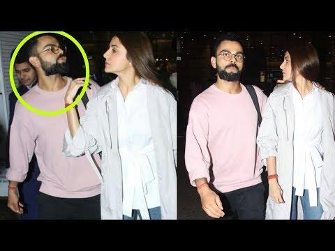 Xxx Mp4 Aww Virat Kohli Kissing Anushka Sharma At Airport In Public On Returning From Vacation 3gp Sex