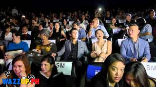 Part 2 This Time Premiere Night James Reid Nadine Lustre JaDine-Before Movie at the Seats