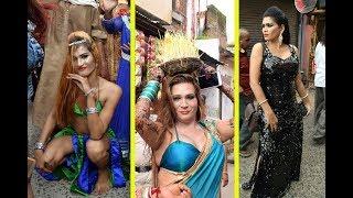 kinner (transgenders) Celebrating Bhujariya Festival in jabalpur