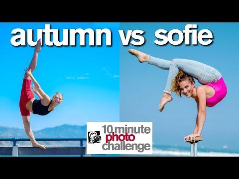 Breaking Sofie Dossi s 10 Minute Photo Challenge Record ft. Autumn Miller