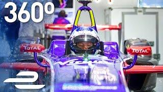 360 Video: DS Virgin Garage Tour w/ Sam Bird & Nicki Shields! - Formula E