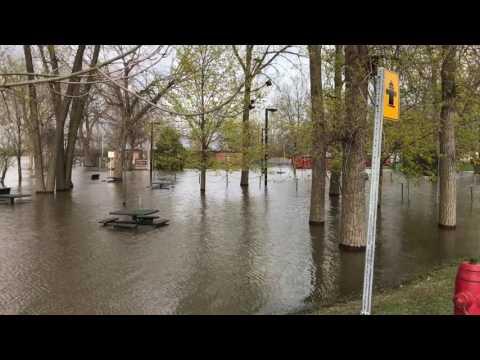Inondation, Marina, Centre de plaisance municipal de pierrefonds.
