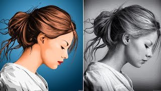 Vexel X Vector Portrait - Photoshop Speed Art