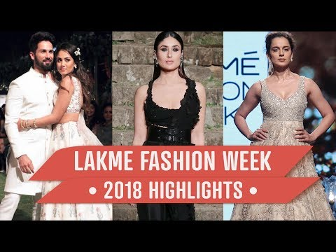 Xxx Mp4 Kareena Kapoor Khan Shahid Kapoor Mira Rajput Lakme Fashion Week 2018 Highlights 3gp Sex