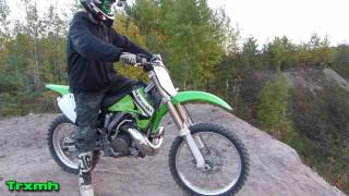 Kawasaki KX250 -2003 - Awesome 2-Stroke Sounds