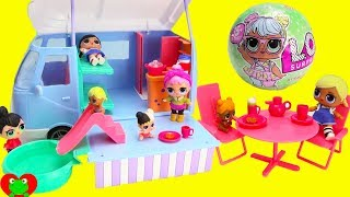 LOL Surprise Dolls Camping With Camper Van