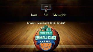 Emerald Coast Classic 2016 - Iowa vs Memphis