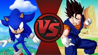 SHADIC vs VEGITO! (Sonic: Nazo Unleashed DX vs Dragon Ball Super) Cartoon Fight Club Episode 199
