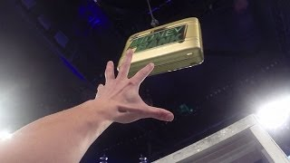 Climb the ladder and grab the Money in the Bank briefcase! - GoPro Video
