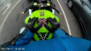 Indian (Desi) motorcycle rider in Los Angeles. 2015 Kawasaki ZX6R.