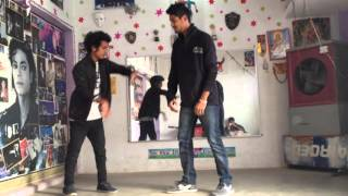 Animation popping Dance  practic by Allen Dheeru & atul robo
