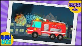 Umi Uzi | Fire Truck | Car Makeover | Toy Garage | Makeover Factory