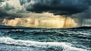 Rain & Ocean Waves Storm Sounds for Sleeping or Studying | White Noise Nature 10 Hours