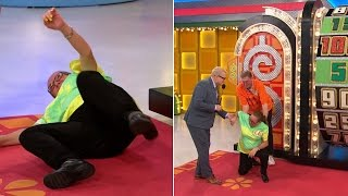 Watch 'Price Is Right' Player Spin Big Wheel So Hard That She Falls