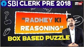 SBI CLERK PRE | Box Based Puzzle By Radhey Sir | Reasoning Tricks