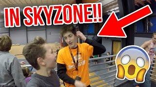 DOING DARES IN SKYZONE! LEARNING A 360 BACK FLIP OR FULL!
